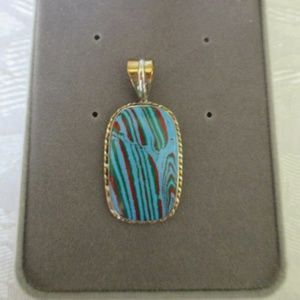 """Calsica Rainbow .925 Sterling Silver Pendant 1.6"""""""